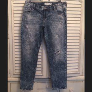 Torrid women's stretch acid wash jeans 16